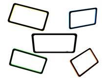 Комплект абстрактных рамок Бесплатная Иллюстрация