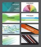 Комплект абстрактных свежих в стиле фанк карточек посещения, можно использовать профессионально. иллюстрация вектора