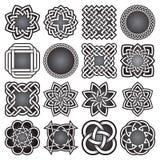 Комплект абстрактных священных символов геометрии в кельтском стиле узлов Стоковая Фотография RF