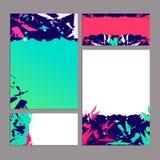 Комплект абстрактных шаблонов inkblot для современного дизайна Стоковые Изображения RF