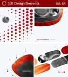 Комплект абстрактных элементов дизайна вектора для графического плана Современный шаблон предпосылки дела Стоковая Фотография