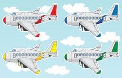 Комплект авиалайнера шаржа Стоковые Изображения RF