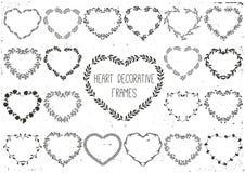 Комплект лавров и венка в сердце формы Стоковые Фото