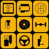 Комплект автомобильных значков Стоковая Фотография