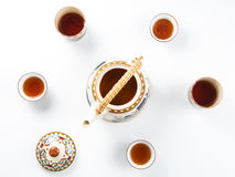 Комплект азиата бака чая Стоковое фото RF