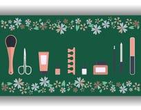 Комплект аксессуаров и инструментов для pedicure Стоковая Фотография RF