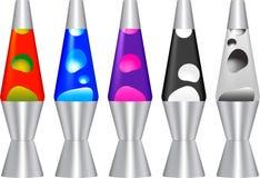 Комплект ламп лавы Стоковые Фотографии RF