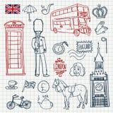 Комплект Англии иллюстрация вектора
