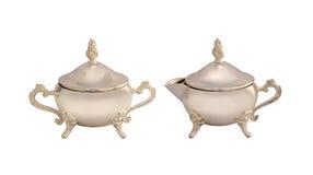 Комплект античных чайников Стоковая Фотография RF