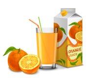 Комплект апельсинового сока Стоковое Изображение