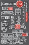 Комплект 14 дат установил значки и эмблемы дела иллюстрация вектора