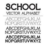 Комплект алфавита вектора школы Стоковое Изображение RF