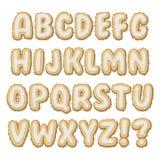 Комплект алфавита печенья ОТ НАЧАЛА ДО КОНЦА Стоковое Изображение