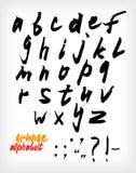 Комплект алфавита Grunge рукописный Стоковая Фотография
