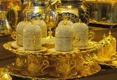Комплект бака чая золота Стоковые Изображения RF
