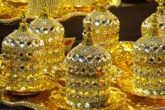 Комплект бака чая золота Стоковая Фотография RF