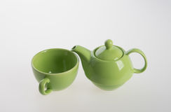 Комплект бака чая или чай фарфора бак и чашка на предпосылке Стоковая Фотография RF
