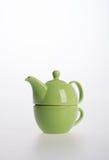 Комплект бака чая или чай фарфора бак и чашка на предпосылке Стоковые Изображения RF