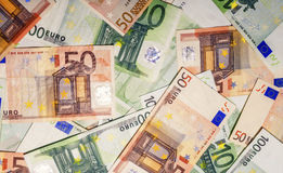 Комплект банкнот евро Стоковое Изображение