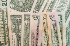 Комплект банкнот доллара Стоковое фото RF