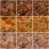 Комплект безшовной каменной текстуры Стоковая Фотография RF