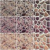 Комплект безшовной каменной текстуры Стоковое фото RF