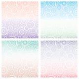 Комплект безшовной картины с белыми кругами различного размера на предпосылке градиента предпосылка геометрическая Стоковая Фотография RF