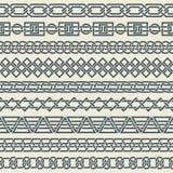 Комплект безшовных винтажных границ в форме cel Стоковая Фотография RF