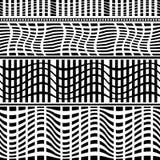 Комплект безшовных геометрических границ Стоковое фото RF