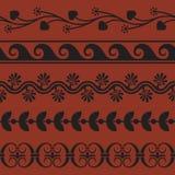 Комплект безшовных греческих границ Стоковое Изображение RF