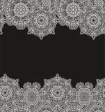 Комплект безшовных декоративных картин границы Стоковое фото RF