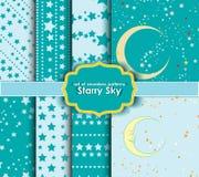 Комплект безшовных картин - звёздное небо Стоковая Фотография