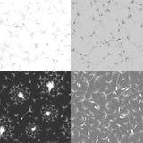 Комплект безшовных текстур одуванчика Стоковые Изображения