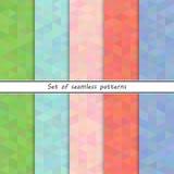 Комплект безшовных треугольников картин бесплатная иллюстрация