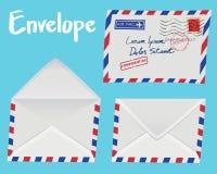Комплект белого конверта Стоковое фото RF