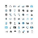Комплект белого цвета значков 2 сети Стоковые Фотографии RF