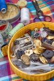 Комплект белошвейки для needlework Стоковое Фото