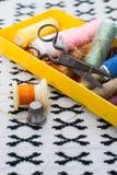 Комплект белошвейки для needlework Стоковые Фото