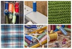 Комплект белошвейки для needlework Стоковое Изображение