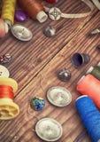 Комплект белошвейки для needlework Стоковая Фотография RF