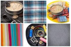 Комплект белошвейки для needlework Стоковые Фотографии RF