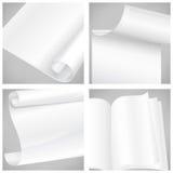 Комплект белых бумаг листа Стоковое Фото