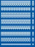 Комплект белых границ шнурка Стоковые Фото