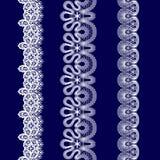 Комплект белых лент шнурка Стоковые Изображения RF