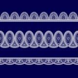 Комплект белых лент шнурка Стоковые Фотографии RF