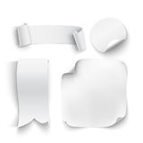 Комплект белых, пустых стикеров Стоковые Фотографии RF