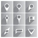 Комплект белых указателей иллюстрация вектора