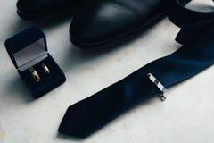 Комплект бизнесмена, атрибуты groom Стоковая Фотография RF