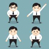 Комплект бизнесмена смайликов характеров Стоковое Изображение