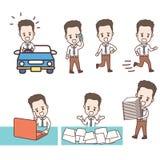 Комплект бизнесмена характера занятого бесплатная иллюстрация